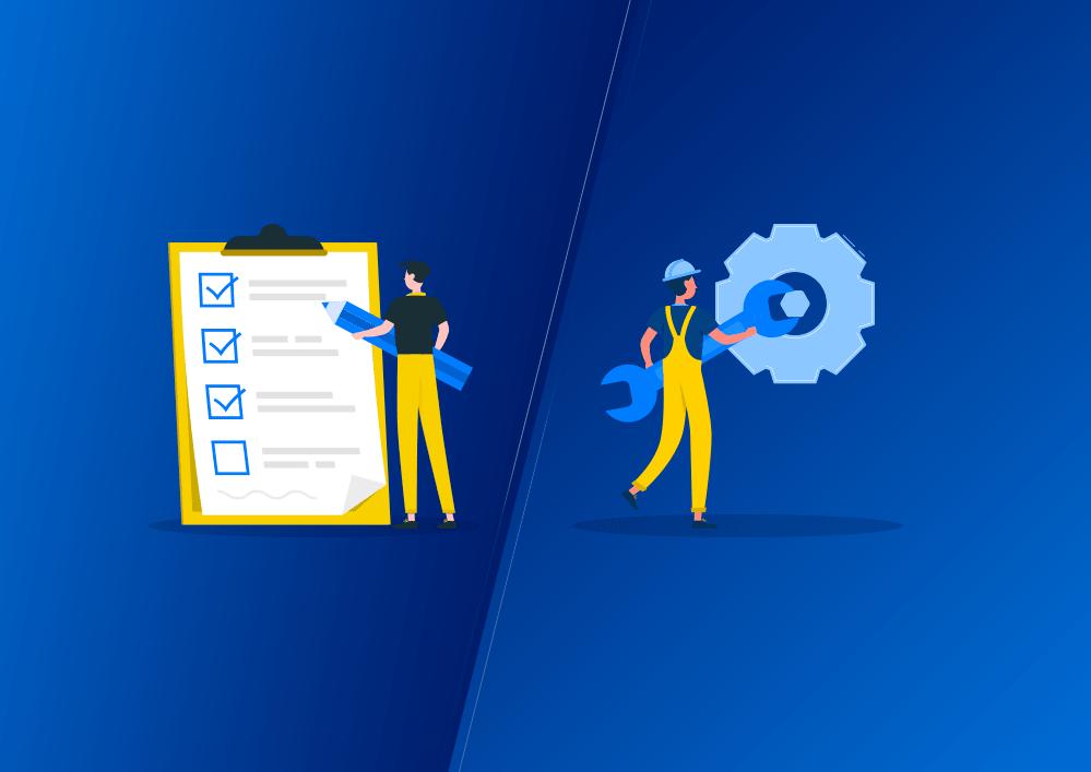 Tarefa de checagem comum em um aplicativo de manutenção, isso ajuda a organizar todo o processo